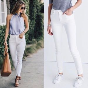 Madewell High Riser Skinny Jeans White